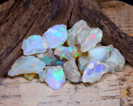 Welo Rough 33.57Ct Natural Ethiopian Play Of Color Rough Opal E1607