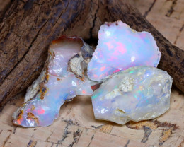 Welo Rough 34.49Ct Natural Ethiopian Play Of Color Rough Opal E1610