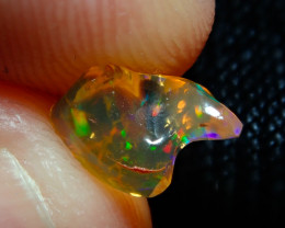 0.89ct Mexican Carving Multicoloured Fire Opal