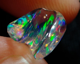 1.42ct Mexican Carving Multicoloured Fire Opal