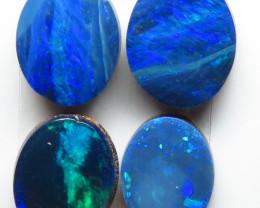 8mm  x 6mm  4 Stone Australian Doublet Opal Parcel