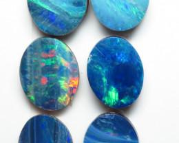9mm  x 7mm 6 Stone Australian Doublet Opal Parcel