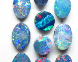 Assorted mm 10 Stone Australian Doublet Opal Parcel