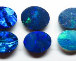 8mm  x 6mm 6 Stone Australian Doublet Opal Parcel