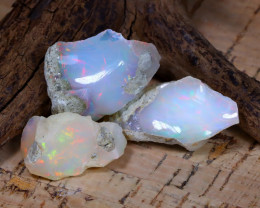 Welo Rough 33.94Ct Natural Ethiopian Play Of Color Rough Opal E1705