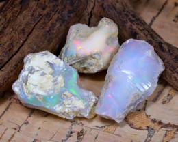 Welo Rough 38.90Ct Natural Ethiopian Play Of Color Rough Opal E1711