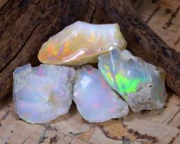 Welo Rough 33.98Ct Natural Ethiopian Play Of Color Rough Opal E1712