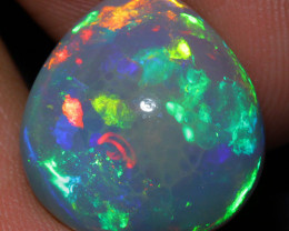 8.70 CT Natural Dark Base Top Quality  Welo Ethiopian Opal-BEE23