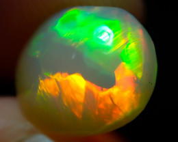 2.12ct Bright Natural Ethiopian Welo Multicoloured Fire Opal