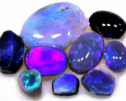 21.25CTS 9PCS  BLACK OPAL RUB PARCEL L.RIDGE  DT-A3963