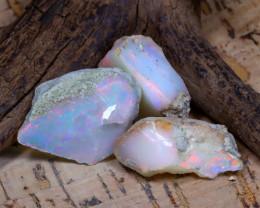 Welo Rough 29.36Ct Natural Ethiopian Play Of Color Rough Opal E1804