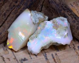 Welo Rough 27.89Ct Natural Ethiopian Play Of Color Rough Opal E1805