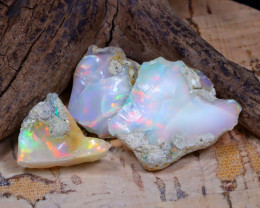 Welo Rough 24.45Ct Natural Ethiopian Play Of Color Rough Opal E1807