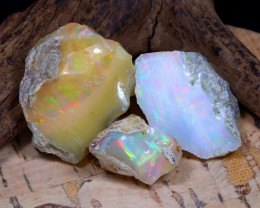 Welo Rough 47.88Ct Natural Ethiopian Play Of Color Rough Opal D1802