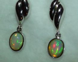 Ethiopian Solid Crystal Opal Earring's