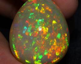 39.00CT 29X23MM Natural Dark Base Top Quality  Welo Ethiopian Opal-BEE111