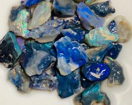 Bright, Clean, Dark Rough Seam Opals with Excellent Cutter