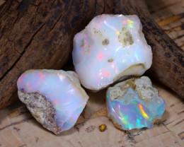 Welo Rough 29.99Ct Natural Ethiopian Play Of Color Rough Opal E1909