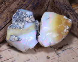 Welo Rough 34.92Ct Natural Ethiopian Play Of Color Rough Opal E1911