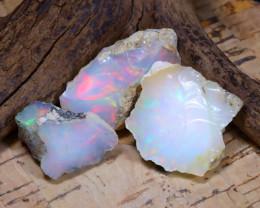 Welo Rough 32.60Ct Natural Ethiopian Play Of Color Rough Opal E1912