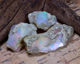 Welo Rough 39.96Ct Natural Ethiopian Play Of Color Rough Opal D1901