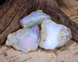 Welo Rough 40.37Ct Natural Ethiopian Play Of Color Rough Opal D1904