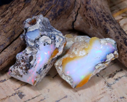 Welo Rough 39.96Ct Natural Ethiopian Play Of Color Rough Opal D1908
