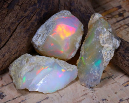 Welo Rough 38.36Ct Natural Ethiopian Play Of Color Rough Opal D1909