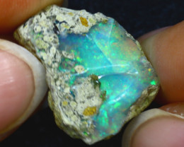 9.97Ct Multi Color Play Ethiopian Welo Opal Rough H2312/R2