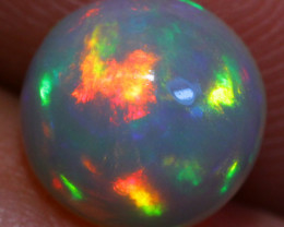 1.18CT 8X8MM Broadflash Pattern!! Welo Ethiopian Opal-ID77