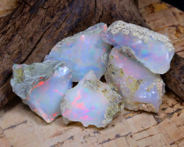 Welo Rough 34.47Ct Natural Ethiopian Play Of Color Rough Opal E2010