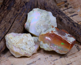 Welo Rough 37.35Ct Natural Ethiopian Play Of Color Rough Opal E2012