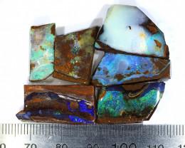 98ct 6pcs Natural Boulder Opal Rough Parcel [BRP-142]