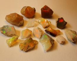 24.9ct lot Cutting Rough Noobie Welo Opal