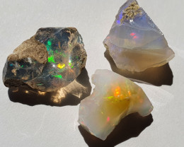 $1 NR Auction 18.6ct lot Cutting Rough Noobie Welo Opal