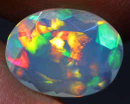 1.33 CT Broadflash pattern!! Welo Ethiopian Faceted Opal-CF52