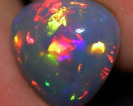 7.88 CT Natural Dark Base Broadflash!! Welo Ethiopian Opal-SMM29