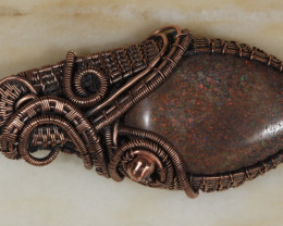 Arwen-Andamooka Matrix opal Pendant [30237] Gopi  53FROGS