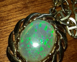 14k 1.9 CT Mintabie Opal Pendant