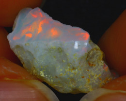 7.60Ct Multi Color Play Ethiopian Welo Opal Rough H2502/R2