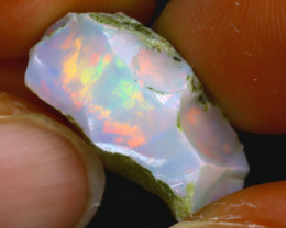 9.53Ct Multi Color Play Ethiopian Welo Opal Rough HR38/R2