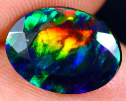 1.97cts Natural Ethiopian Faceted Smoked Welo Opal / BF4841