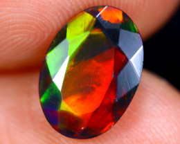 1.30cts Natural Ethiopian Faceted Smoked Welo Opal / BF4842