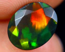 1.83cts Natural Ethiopian Faceted Smoked Welo Opal / BF4845