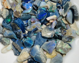 180 CTs Black Rough Seam Opals With Small Cutters#2154