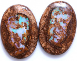 42.00 CTS WELL POLISHED PAIR YOWAH STONES [FJP4109]