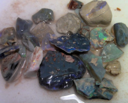 Virgin material! 206ct Lightning Ridge opal rough gamble parcel