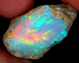 16cts Natural Ethiopian Welo Rough Opal / WR5435