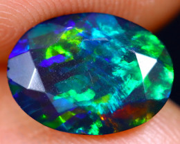 1.18cts Natural Ethiopian Welo Faceted Smoked Opal / HM1398