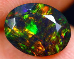 1.08cts Natural Ethiopian Welo Faceted Smoked Opal / HM1399